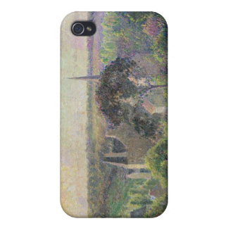 The Church and Farm of Eragny, 1895 iPhone 4 Covers
