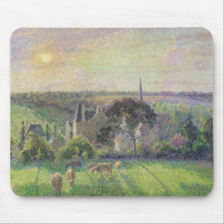 The Church and Farm of Eragny, 1895 Mouse Mat