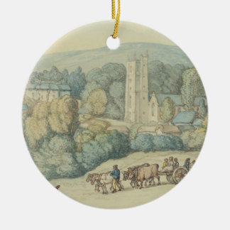 The Church and Village of St. Cue, Cornwall, c.181 Christmas Ornament