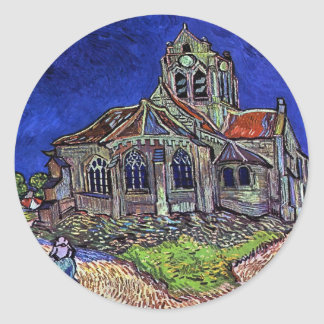 The Church at Auvers by Vincent van Gogh 1890 Classic Round Sticker
