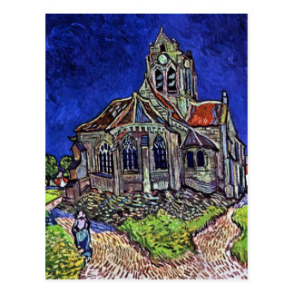 The Church at Auvers by Vincent van Gogh 1890 Postcard
