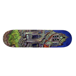 The Church at Auvers by Vincent van Gogh 1890 Skate Board