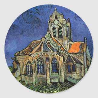 The Church at Auvers by Vincent van Gogh Round Sticker