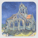 The Church at Auvers-sur-Oise Square Sticker