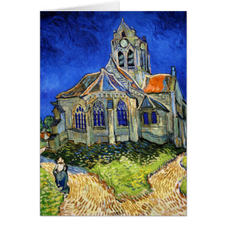 The Church At Auvers: Vincent Van Gogh Card