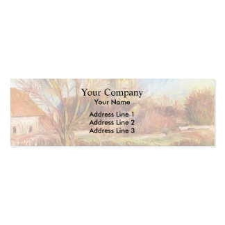 The Church at Essoyes by Pierre-Auguste Renoir Pack Of Skinny Business Cards