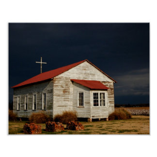 The Church at Frogmore Plantation [Art Print] Poster