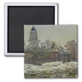 The Church at Vetheuil, 1879 Square Magnet
