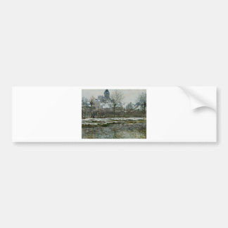 The Church at Vetheuil under Snow by Claude Monet Bumper Sticker