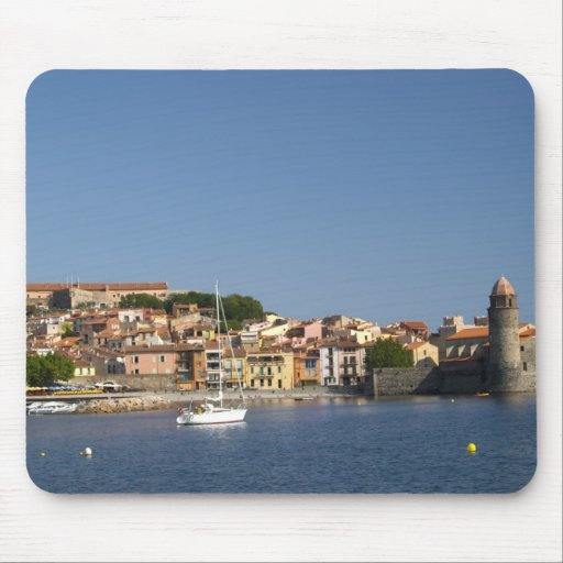 The church Eglise Notre Dame des Anges, our lady 2 Mousepads