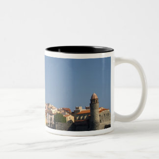 The church Eglise Notre Dame des Anges, our lady 2 Two-Tone Coffee Mug