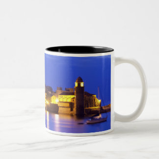 The church Eglise Notre Dame des Anges, our lady Two-Tone Coffee Mug
