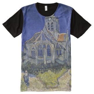 The Church in Auvers by Vincent van Gogh All-Over Print T-Shirt
