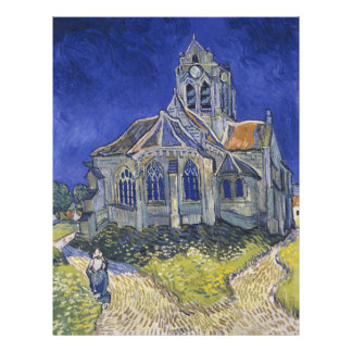The Church in Auvers by Vincent van Gogh Full Color Flyer