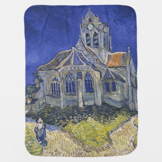 The Church in Auvers by Vincent van Gogh Receiving Blankets