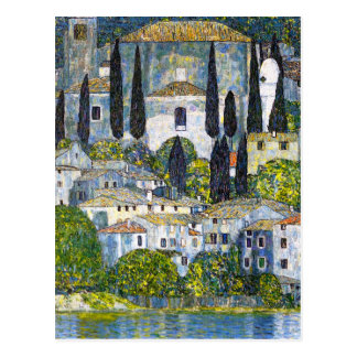 The Church in Cassone by Gustav Klimt Postcard