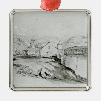 The Church of San Francisco, Valparaiso, 1834 Christmas Ornament