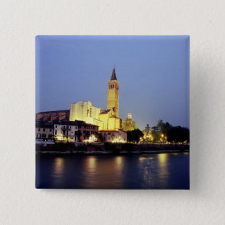 The church of Sant'Anastasia in Verona, Italy. 15 Cm Square Badge