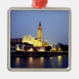 The church of Sant'Anastasia in Verona, Italy. Christmas Ornament