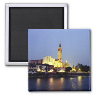 The church of Sant'Anastasia in Verona, Italy. Square Magnet