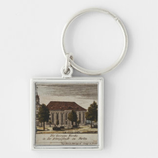 The Church of St. George in Konigsstadt, Silver-Colored Square Key Ring