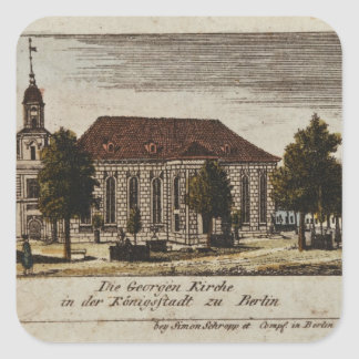 The Church of St. George in Konigsstadt, Square Sticker