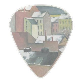 The Church of St Mary in Bonn in Snow, 1911 Acetal Guitar Pick