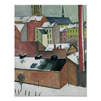 The Church of St Mary in Bonn in Snow, 1911 Poster