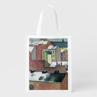 The Church of St Mary in Bonn in Snow, 1911 Reusable Grocery Bag