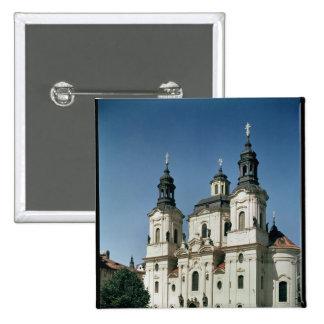 The Church of St. Nicholas, built 1703-61 15 Cm Square Badge