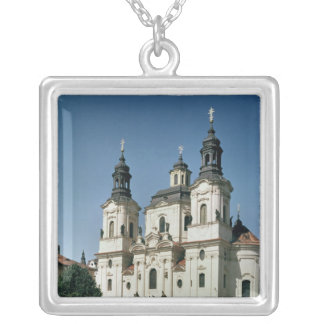 The Church of St. Nicholas, built 1703-61 Silver Plated Necklace