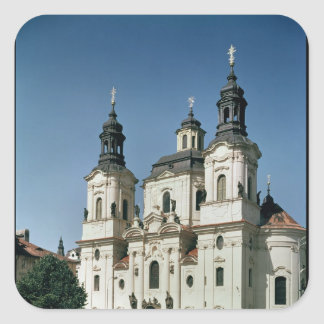 The Church of St. Nicholas, built 1703-61 Square Sticker