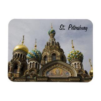 The Church of the Savior on Spilled Blood Premium Rectangular Photo Magnet