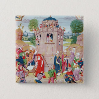 The Church under attack from heretics, Flemish 15 Cm Square Badge