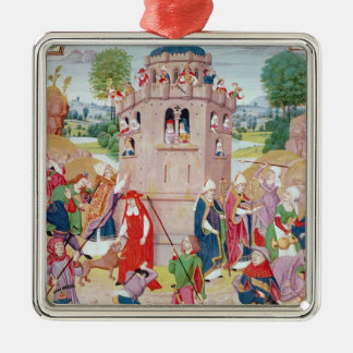The Church under attack from heretics, Flemish Christmas Ornament