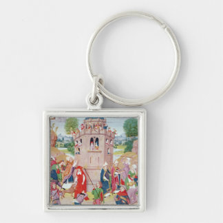 The Church under attack from heretics, Flemish Key Ring