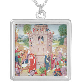 The Church under attack from heretics, Flemish Silver Plated Necklace