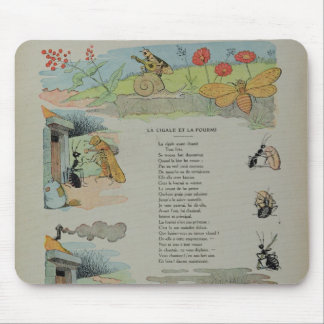 The Cicada and the Ant from the Fables Mouse Mat