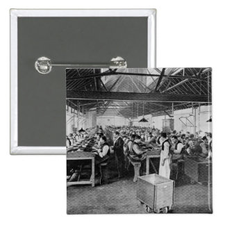 The cigar manufacturing departments 15 cm square badge