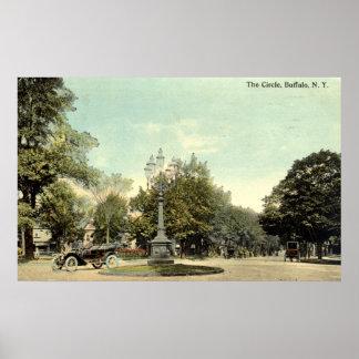 The Circle, Buffalo NY 1913 Vintage Poster