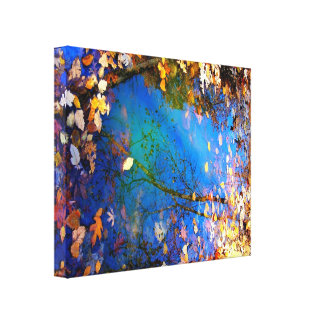 The Circle of Seasons Stretched Canvas Canvas Print