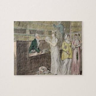 The Circulating Library (pen and ink and w/c and w Jigsaw Puzzle