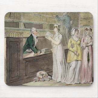 The Circulating Library (pen and ink and w/c and w Mouse Mat