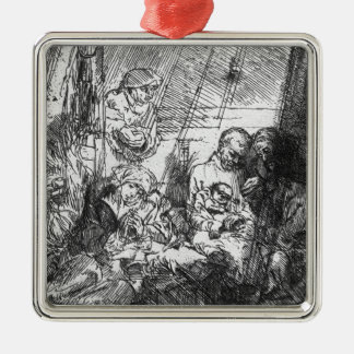 The Circumcision, 1654 Silver-Colored Square Decoration