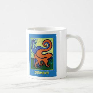 """The Circus Boy"" on blue by Zermeno Classic White Coffee Mug"