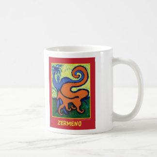 """The Circus Boy"" on red by Zermeno Classic White Coffee Mug"