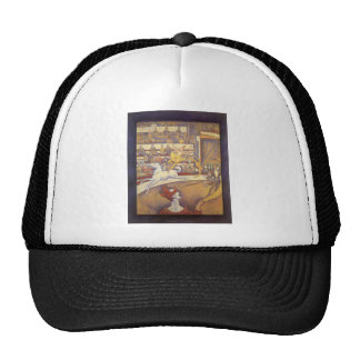 The Circus by Georges Seurat, Vintage Pointillism Cap