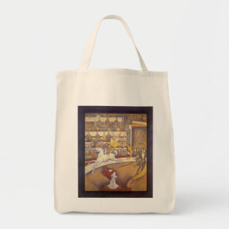 The Circus by Georges Seurat, Vintage Pointillism Tote Bag
