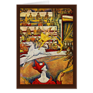 The Circus By Seurat Georges Greeting Card