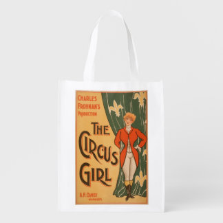 The Circus Girl Theatrical Poster #1 Reusable Grocery Bag